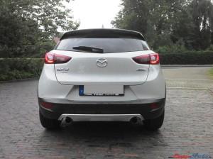 Mazda CX-3 weiß hinten